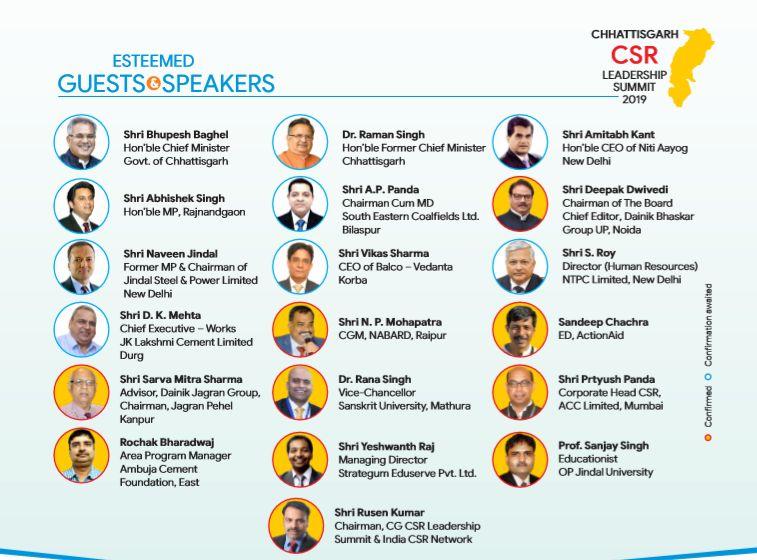 2nd Chhattisgarh CSR Leadership Summit in Raipur on 3rd Feb, 2019