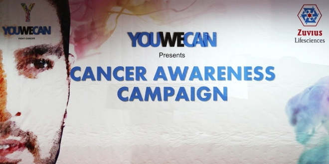 Zuvius Lifescience Along with YouWeCan (Yuvraj Singh's NGO) has Initiated a Nation Wide Cancer Awareness Programme