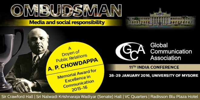 University of Mysore to Host the 11th International Global Communication Association (GCA) Conference in India on Ombudsman