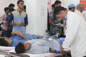Blood donation camp at The NorthCap Univers Gurgaon