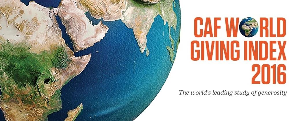 CAF World Giving Index (WGI) report 2016.