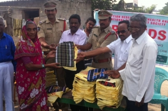 Distribution of Blankets to Old Age People by RRHEDS