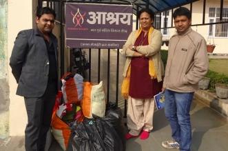 donates winter wear to ngo