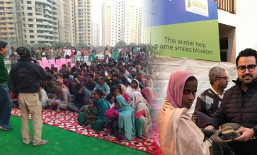 SIKKA GROUP ORGANISES BLANKET DISTRIBUTION CAMP