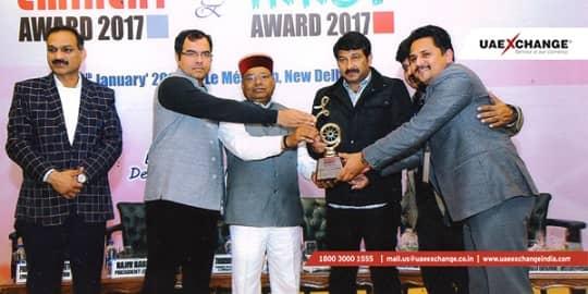 UAE Exchange India Won Innov and Eminent Award 2017 for CSR