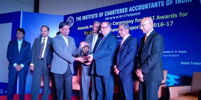 The Akshaya Patra Foundation wins ICAI Gold Shield Award for Excellence in Financial Reporting for 2016-17