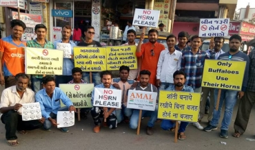 Team Amal India, running No Horn Movement in Kutch region