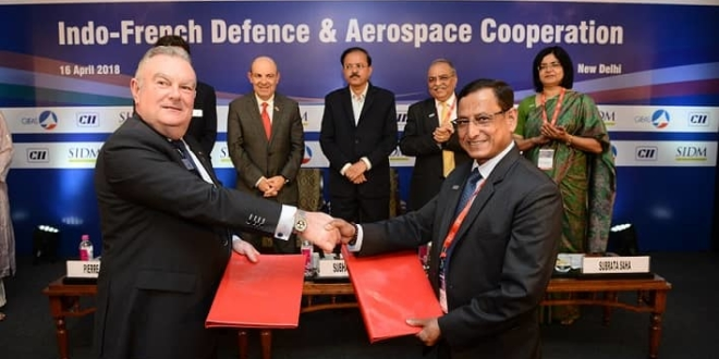 Signature of a MoU between the GIFAS (France) and the SIDM (India)