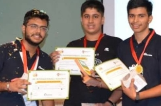 Gurugram & Delhi students secure 1st position in International Robotronics Competition