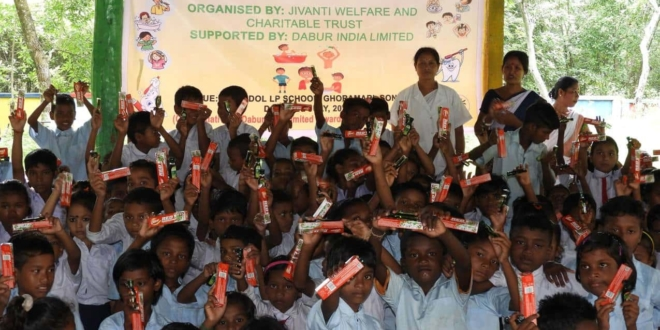 Dabur builds Oral & Personal Hygiene Awareness among kids in Assam