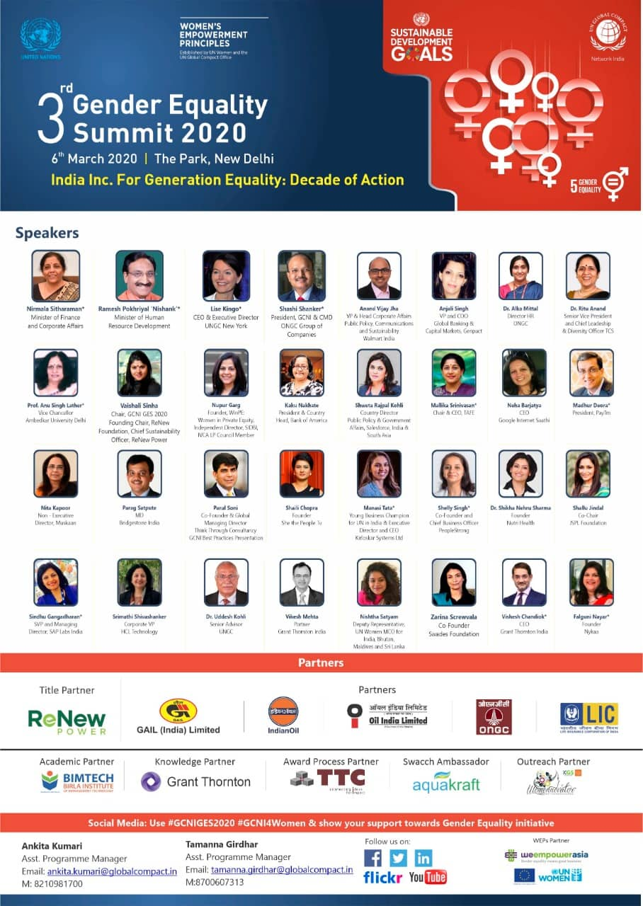 3rd Gender Equality Summit 2020